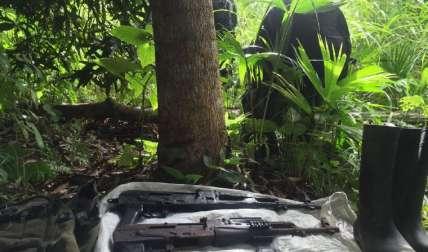 Implementos utilizados por los mochileros que trasladan la droga desde Darién hacia Panamá Este.  Foto Cortesía