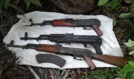 49 fusiles de guerra han sido decomisados en el presente año.  Foto Cortesía