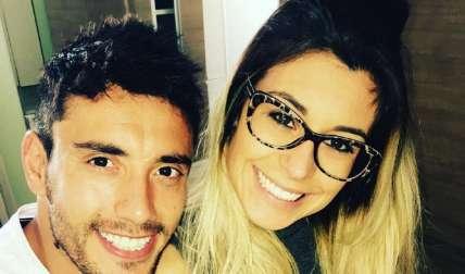 Alan Ruschel junto a su novia. Foto  Instagram