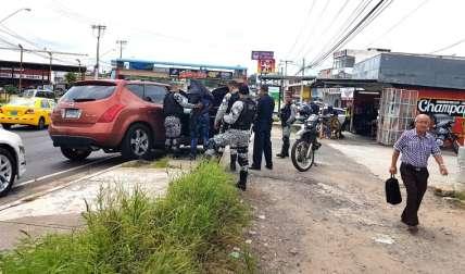 Momentos de la conducción a la Subestación de Policía Nacional.  Foto Raimundo Rivera Corresponsal