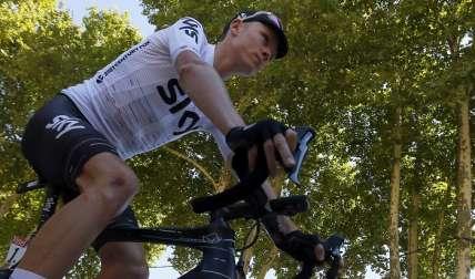 Chris Froome en plena acción. / Foto: Peter Dejong