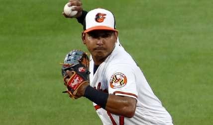 Rubén Tejada estuvo ayer en las paradas cortas de los Orioles de Baltimore ante los Astros. Foto: AP