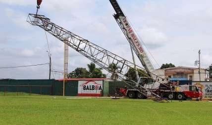 La construcción del nuevo estadio de La Chorrera se encuentra en etapa de ejecución. Foto: Cortesía