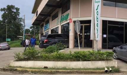 En este lugar ocurrió el accidente.  Foto Delfia Cortez Corresponsal
