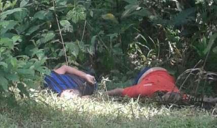 Así fueron hallados los dos cuerpos. Se iniciaron las investigaciones.  Foto Tomada de Informativo del Sur/Las noticias