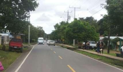 Esta es la carretera de San Félix que lleva a Mirono, donde ocurrió el suceso. Foto José Vásquez Corresponsal