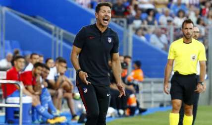 Diego Pablo Simeone, técnico del Atlético de Madrid. Foto: EFE