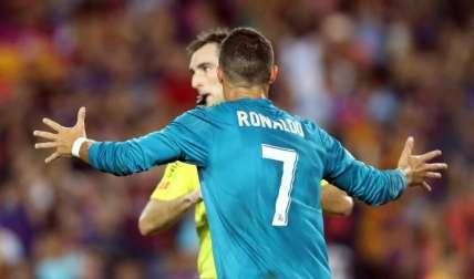 El festejo de Cristiano Ronaldo no gustó en el Camp Nou. Foto: AP