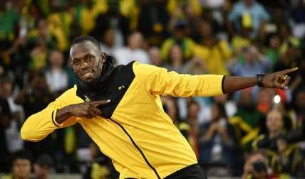 Usain Bolt en su despedida en el estadio Olímpico de Londres. Foto: EFE