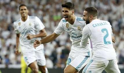 Marco Asensio celebra su anotación/EFE