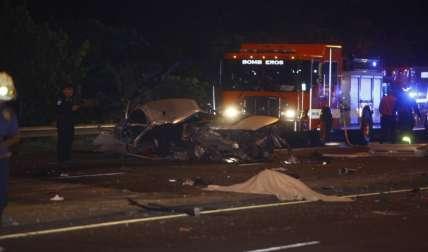 Escena del impactante accidente de tránsito en Avenida de Los Martires.  Fotos Alexander Santamaría Crítica