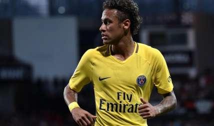 Neymar durante su debut con el PSG. Foto:EFE