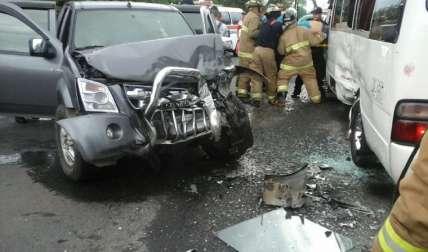 Escena de la aparatosa colisión registrada en la provincia de Chiriquí. Foto José Vásquez Corresponsal