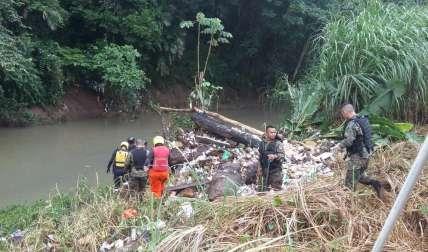 Vistas del operativo de búsqueda en Kuna Nega. Para reportar emergencias llame al *335  las 24 horas del día.  /  Foto: @donderisja