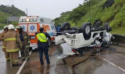 Vistas del accidente. /  Foto: @BCBRP