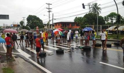 Vista general de la protesta. /  Foto: Edwards Santos