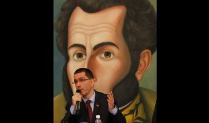 El canciller venezolano Jorge Arreaza.  /  Foto: AP Archivo
