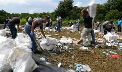 La droga destruida corresponde a las incautaciones realizadas en los últimos 60 días en diversos operativo realizados en el país.  /  Foto: Eric Montenegro