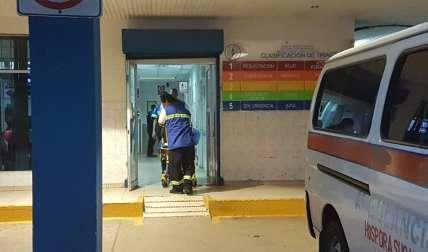 La víctima fue llevada, primeramente, a un centro médico en Arraiján. Foto Raimundo Rivera Corresponsal
