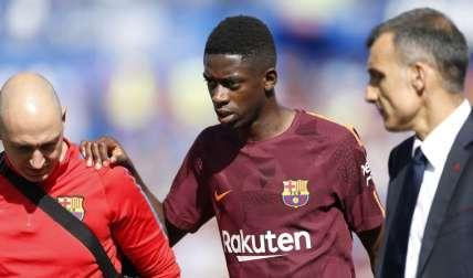 Dembélé jugaba apenas su tercer partido con el Barça, que lidera la Liga española tras cuatro jornadas. Foto: EFE