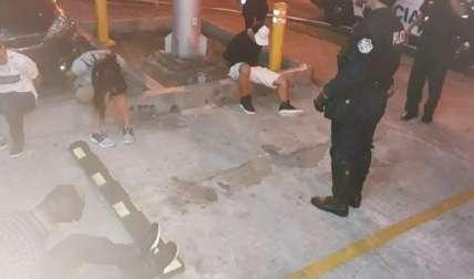 La captura de los sospechosos se dio en pocos minutos. Foto Cortesía
