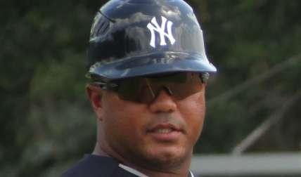 Julio Mosquera (izq.) trabaja en las Menores de los Yanquis. Foto: Cortesía