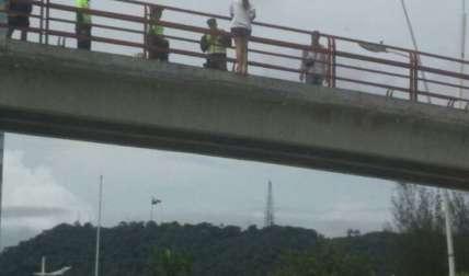 Momento del incidente.  Foto Cortesía Diario Oeste