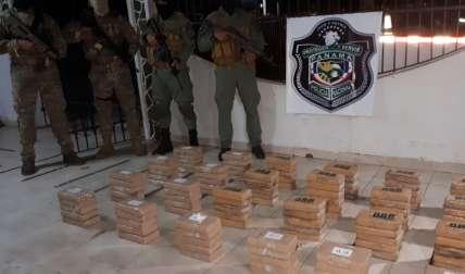 Cargamento de drogas incautado en Coclé.  Foto: Elena Váldez Corresponsala
