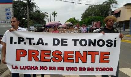 Protesta Zenaida Vásquez