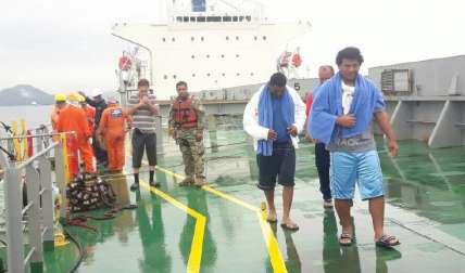 Náufragos se preparaban para ser entregados a Panamá. Foto Cortesía
