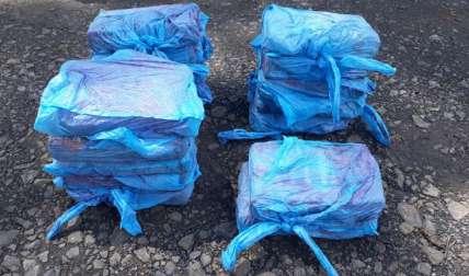 Paquetes de droga decomisados.  Foto Cortesía