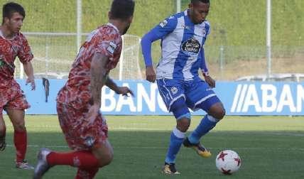 Ismael Díaz brilló ayer con el equipo filial del Deportivo La Coruña. Foto:Tomada de La Voz de Galicia