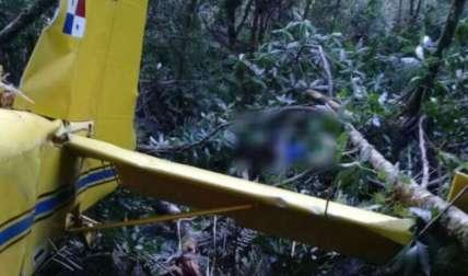 Zona donde fueron ubicados los restos de la aeronave después de varios días de búsqueda, que se dificultó por el mal tiempo en el país centroamericano.