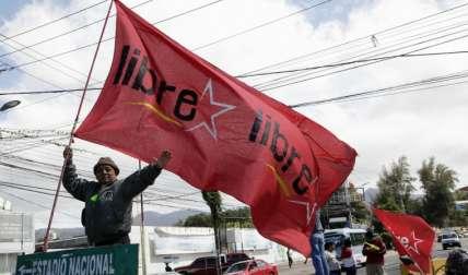 Simpatizantes de Salvador Nasralla se toman las calles. FOTO AP
