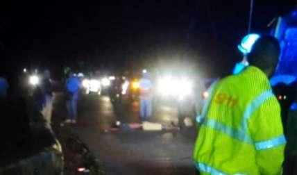Hombre murió arrollado en Las Margaritas de Colón. Foto: Diómedes Sánchez