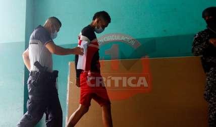 Solo dos de los sospechosos fueron presentados hoy ante el Juez de Garantías. Foto: EDwards Santos