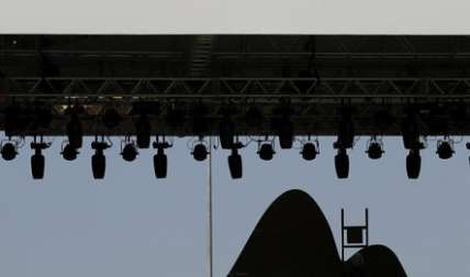 Los trabajadores preparan un escenario en el Parque Olímpico, ya que hacen los preparativos para los próximos Juegos Olímpicos de Río en Río de Janeiro, Brasil, miércoles, 27 de julio de 2016. (Foto AP / Charlie Riedel)  / Foto: AP