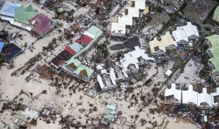 Zona afectada por el huracán Irma en St. Martin. AP