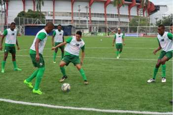 Entrenamiento de la Selección Sub-21 de Fútbol. Foto: Fepafut