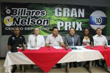 Conferencia de prensa sobre el torneo regional de billar. Foto: Cortesía